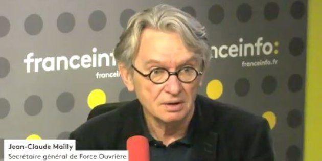 Le secrétaire général FO s'interroge sur les intentions de Macron et et n'exclu pas des mobilisations.