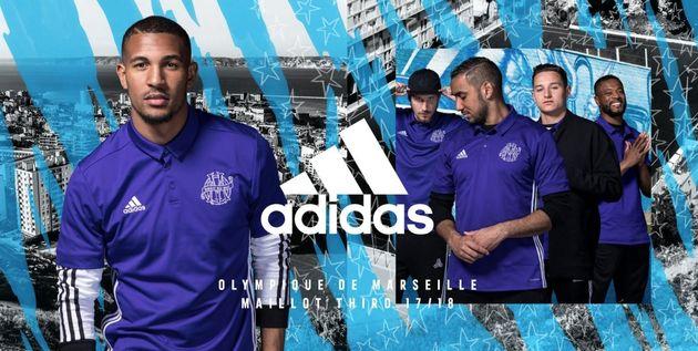 Voici les maillots de l'Olympique de Marseille, siglés Adidas, pour