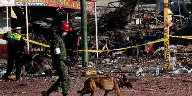 (Photo d'illustration) L'explosion d'un entrepôt de feux d'artifice fait une dizaine de morts et de nombreux...