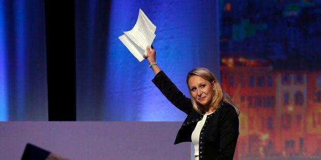 Marion Marechal-Le Pen à Marseille lors du meeting de Marine Le Pen le 19