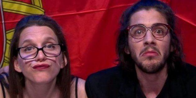 Salvador Sobral et sa sœur Luísa lors de la demi-finale de