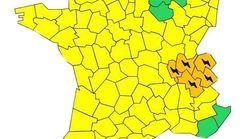 Cinq départements placés en vigilance orange à cause des