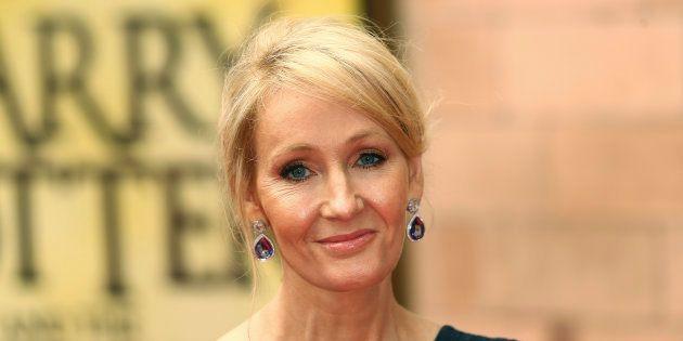 J.K. Rowling à Londres le 30 juillet