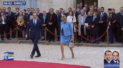 Les premiers pas de Brigitte Macron à