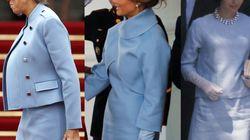 La tenue de Brigitte Macron fait penser à celle de Melania Trump (qui faisait penser à celle de Jackie