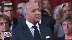 En proclamant Macron président, Laurent Fabius s'est permis un discours très personnel et