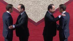 Que disent les gestes entre Hollande et Macron à la cérémonie