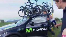 La voiture de cette équipe du Giro a vraiment eu de la