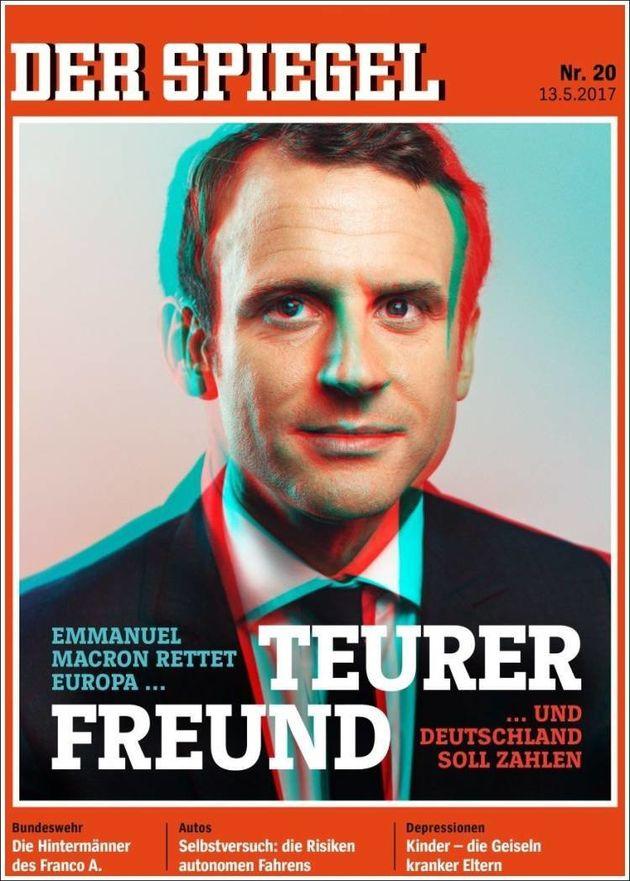 Emmanuel Macron chez Angela Merkel: la presse allemande partagée sur le président