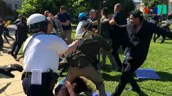 Violentes images à Washington d'affrontements entre le service de sécurité d'Erdogan et des