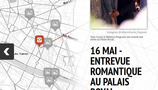 La carte des cascades de Tom Cruise à Paris pour