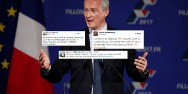 Après l'annonce du gouvernement Philippe, ces tweets que Bruno Le Maire et Gérald Darmanin devraient