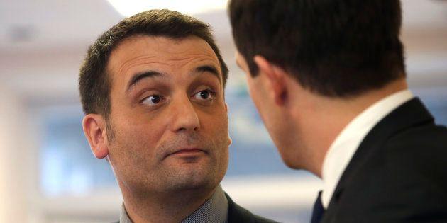 Florian Philippot au QG du Front national à Nanterre en