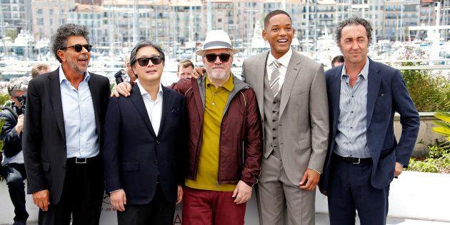 70ème Festival de Cannes - Photocall du jury - Cannes, France. 17/05/2017. Le directeur Pedro Almodovar,...