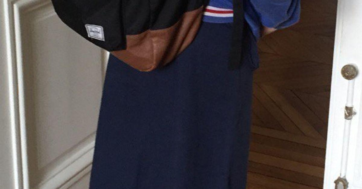 1e4bfbeb178384 Pour la journée de la jupe, le fils de Sylvie Testud a trouvé une ...