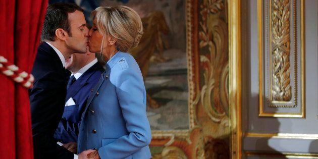 Emmanuel et Brigitte Macron et le