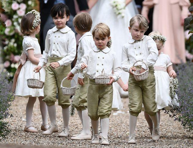 Le prince George au mariage de sa tante Pippa Middleton, le 20 mai à Englefield, à l'ouest de