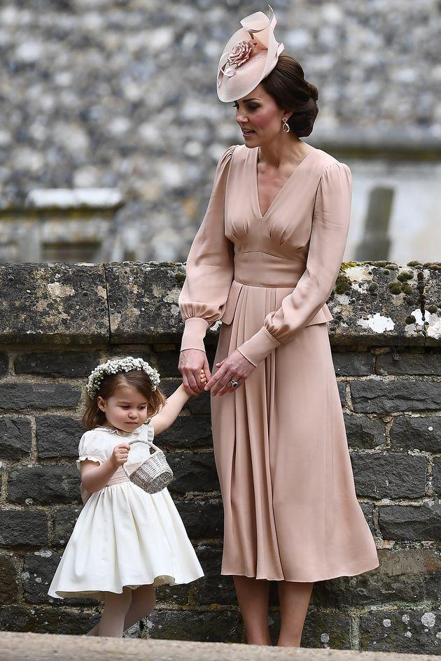 La duchesse de Cambridge et sa fille Charlotte au mariage de Pippa Middleton, le 20