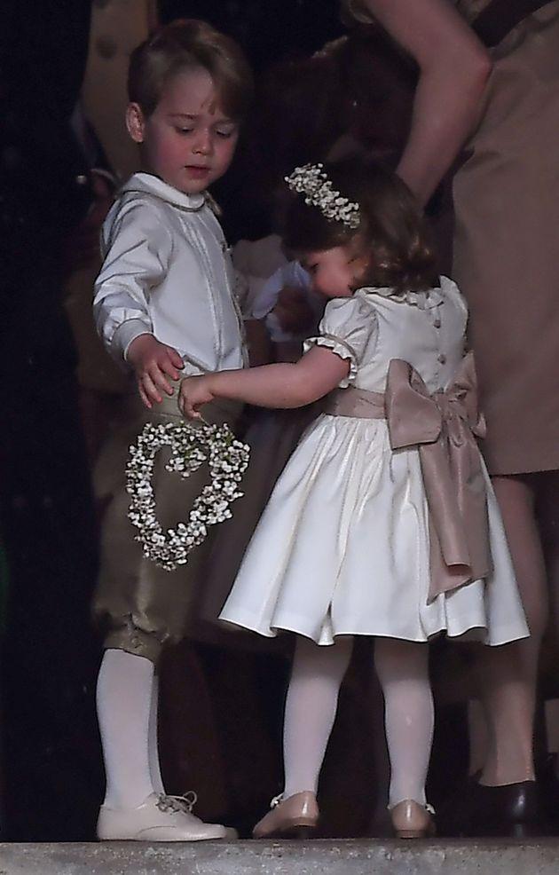 Le prince George et la princesse Charlotte au mariage de Pippa Middleton, le 20