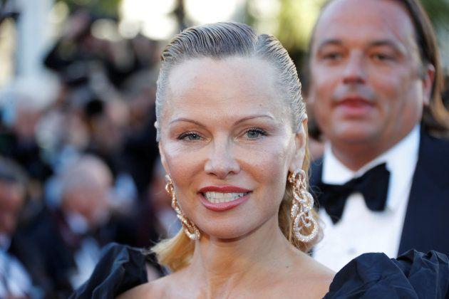 Pamela Anderson au Festival de Cannes, le 20