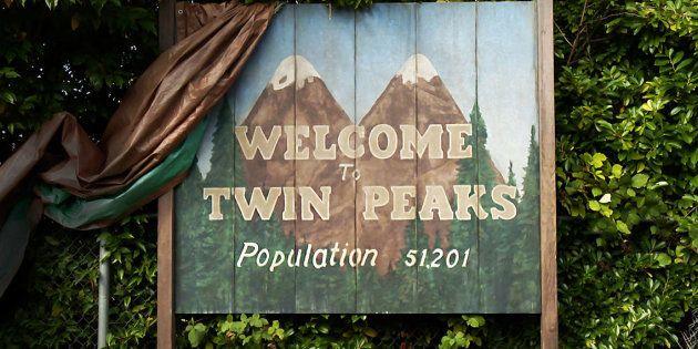 Le panneau d'entrée dans la ville de Twin