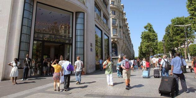 Le magasin Louis Vuitton à