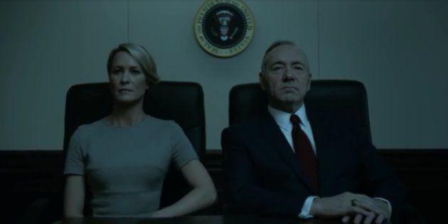 Franck et Claire Underwood dans le dernier épisode de la saison 4