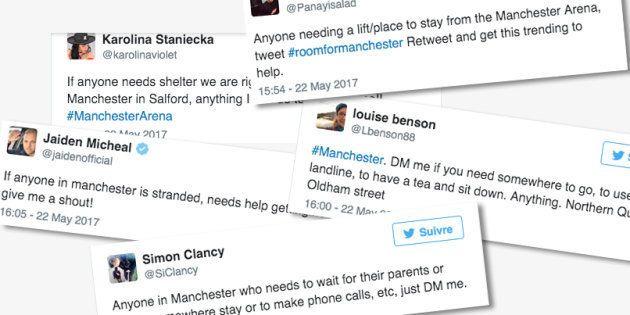 Les habitants de Manchester proposent aux fans sous le choc de les