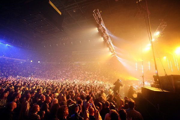 La Manchester Arena, une salle omnisport qui a accueilli Ariana Grande, Beyoncé, Lady Gaga,