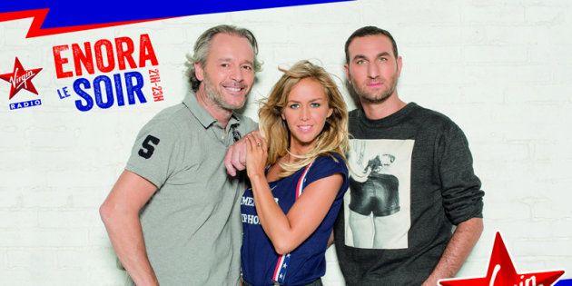 Michael Zazoun aux côtés d'Enora Malagré et Jean-Michel Maire