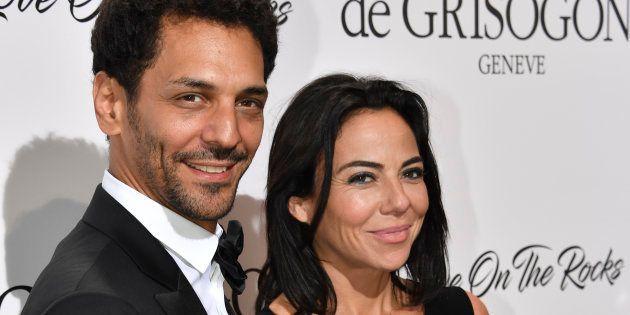 Tomer Sisley et Sandra de Matteis à la fête De Grisogono en marge du festival de Cannes le 23