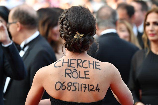 Au festival de Cannes 2017, cette actrice anonyme a trouvé l'astuce pour trouver du