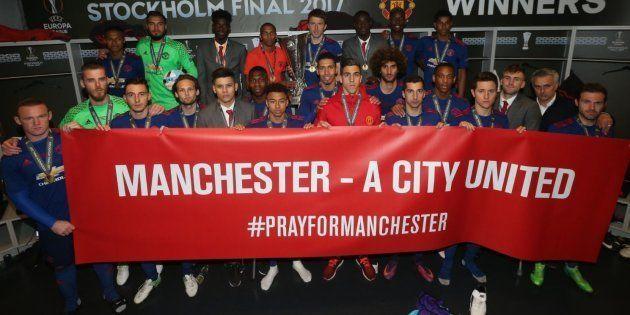 Après l'attentat, les joueurs de Manchester United dédient leur victoire à leur