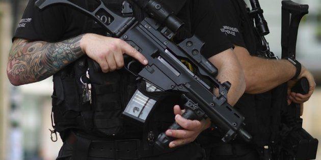 Un policier à Manchester le 24 mai
