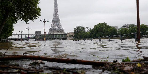 Vue de la Seine le 3 juin