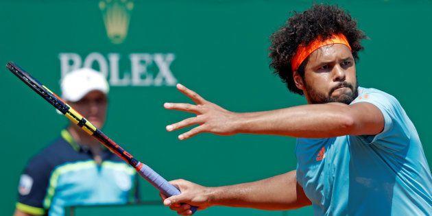 Jo-Wilfried Tsonga au tournoi de Monte-Carlo le 18 avril