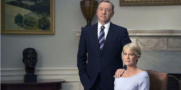 Kevin Spacey et Robin Wright dans la saison 3
