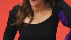 Agnès Jaoui s'éclate sur le tapis