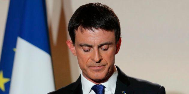 Manuel Valls à Paris le soir du second tour de la primaire de la