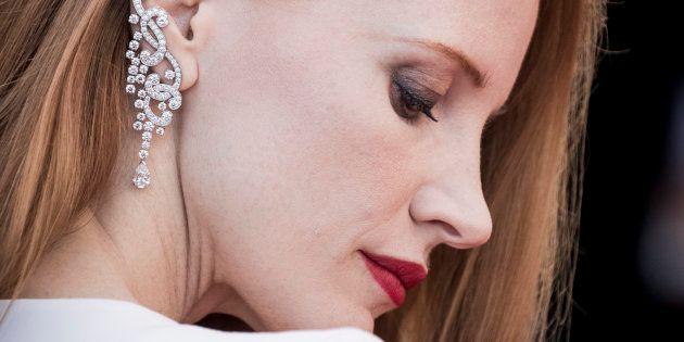 Jessica Chastain à la cérémonie de clôture du 70ème festival de