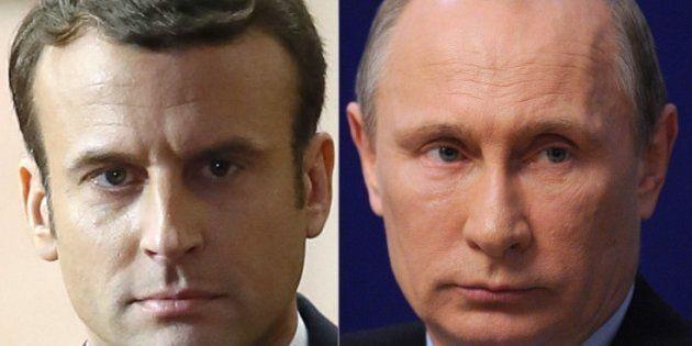 Emmanuel Macron reçoit lundi Vladimir Poutine sous les ors du château de Versailles, prêt à engager