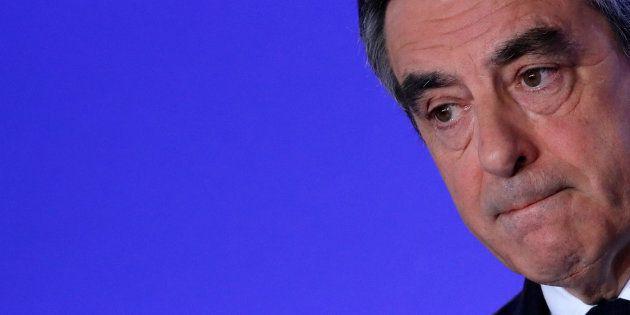 François Fillon en conférence de presse le 21 avril à