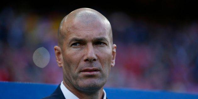 Zinédine Zidane lors d'Atlético Madrid-Real Madrid le 10 mai