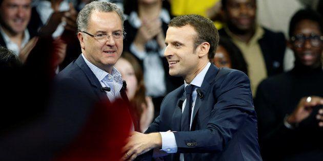 Emmanuel Macron et Richard Ferrand à Paris le 10 décembre