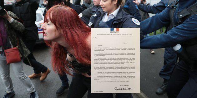 La lettre de soutien de la secrétaire d'Etat Marlène Schiappa aux Femen, en plein procès pour exhibition