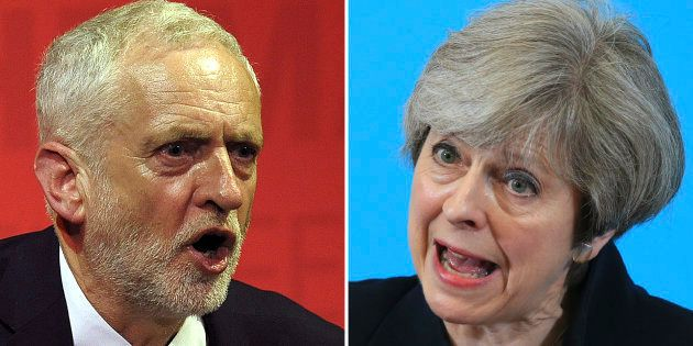Législatives britanniques: Theresa May et Jeremy Corbyn au coude à coude, selon un