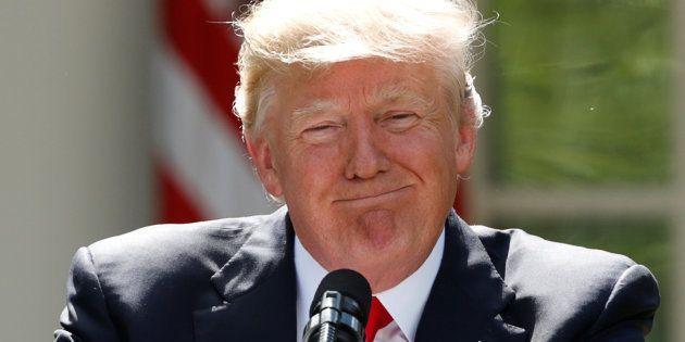 Donald Trump à la Maison Blanche le 1er