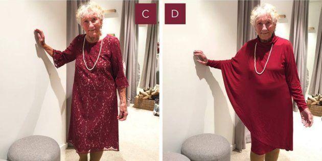 Cette mamie a demandé l'aide des internautes pour choisir sa robe de