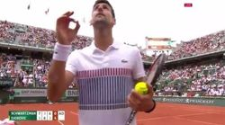 La grosse colère de Djokovic contre l'arbitre de son