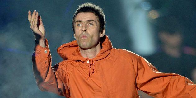 Liam Gallagher sur la scène du